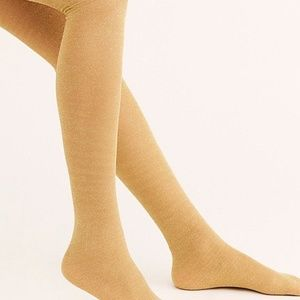 Free People Bewitched Shimmer Tights